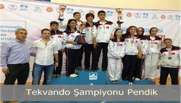 Pendik Belediyesi Sporcuları Tekvando da Şampiyon
