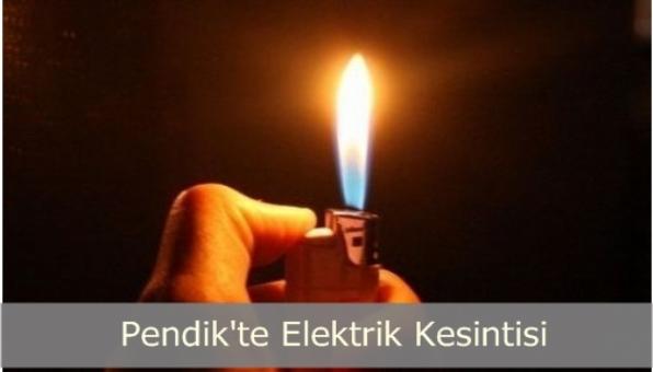İstanbul Pendik te Elektrik Kesintisi