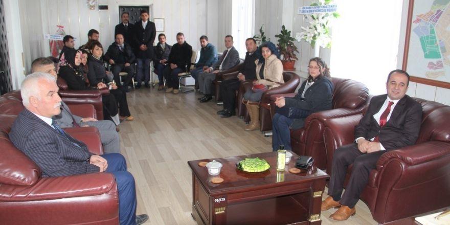 Okul müdürlerinden Başkan Vekili Öztürk'e ziyaret