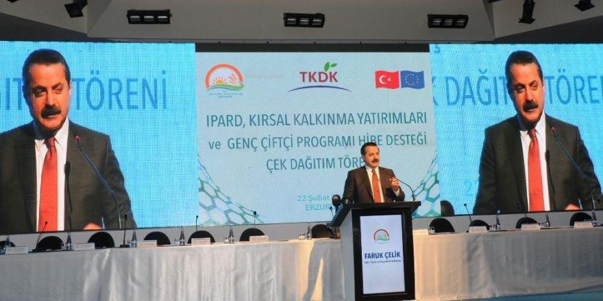 TKDK desteklerinden faydalanan Erzurumlu yatırımcılara çek töreni düzenlendi