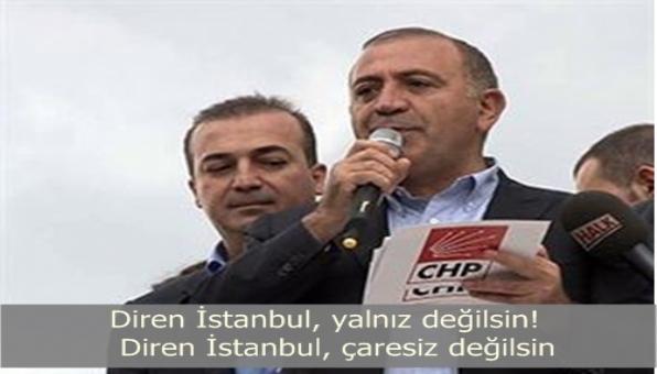 Diren İstanbul, yalnız değilsin! Diren İstanbul, çaresiz değilsin