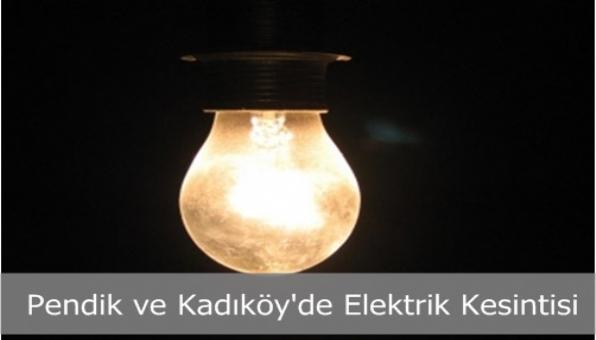 Kadıköy ve Pendik´te Elektrik Kesintisi