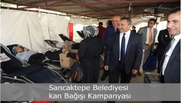 Sancaktepe Belediyesi kan Bağışı Kampanyası