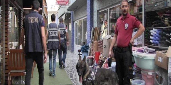 Artvin'de narkotik köpekler eşliğinde sokak uygulaması