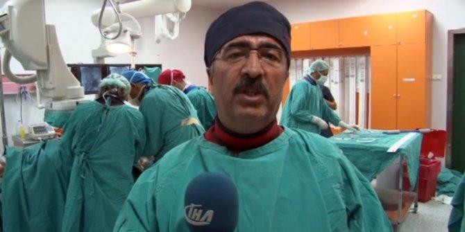 TÖTM'de 70 yaşındaki hastanın aort damarı ameliyatsız değiştirildi