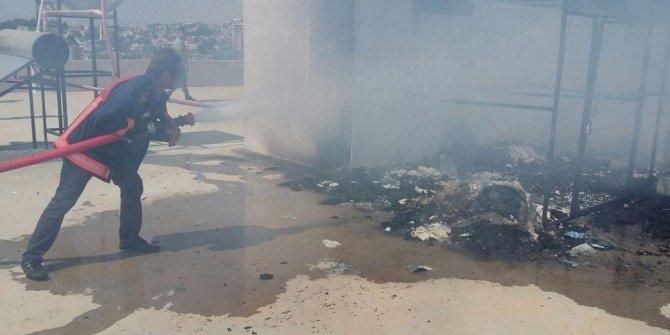 Midyat'ta güvercin kümesinde yangın