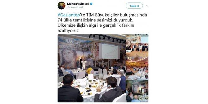 """Başbakan Yardımcısı Şimşek: """"74 ülke temsilcisine sesimizi duyurduk"""""""