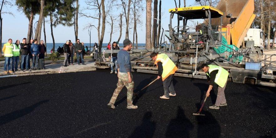 Ordu'da asfalt çalışması hız kesmiyor