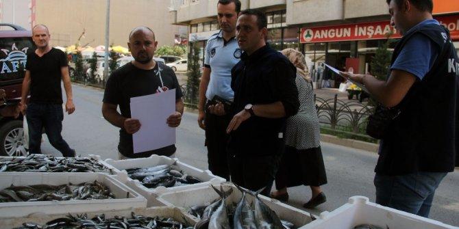 Giresun'da balıkçı tezgahları denetlendi