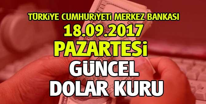 TCMB Dolar, Euro ve Döviz kurları 18 Eylül 2017