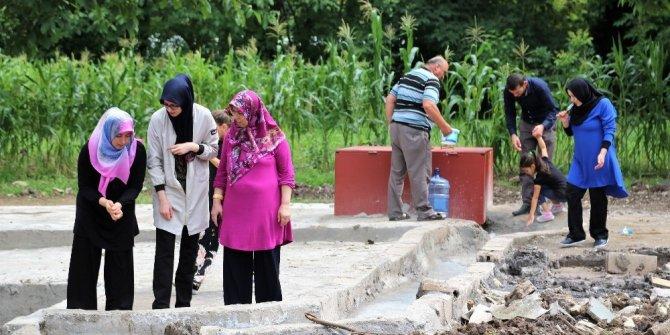 Başiskele'nin jeotermal suyuna yoğun ilgi