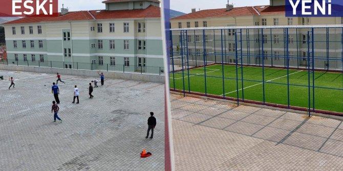 Arif Nihat Asya Ortaokulu'nda sentetik sahası hizmete giriyor