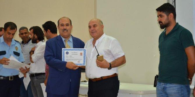 Tarsus'ta başarılı 230 emniyet mensubuna takdirname verildi