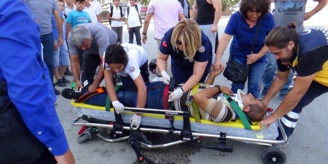 Yaralanan sürücü eşinin elini bir an olsun bırakmadı