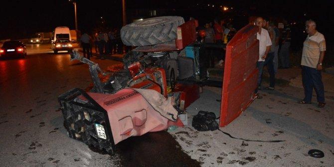 Niksar'da traktör devrildi: 1 yaralı