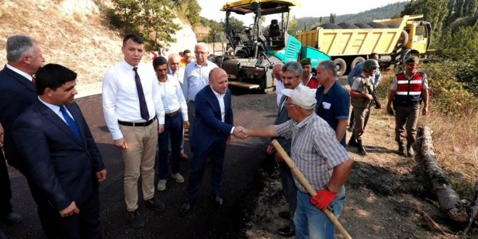 """Vali Varol: """"Köy yolları şehir standartlarına getirilecek"""""""