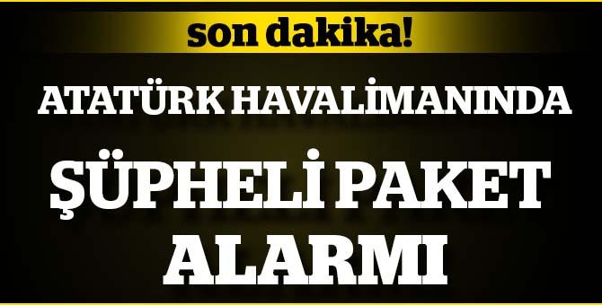 Son dakika... Atatürk Havalimanı'nda şüpheli paket alarmı