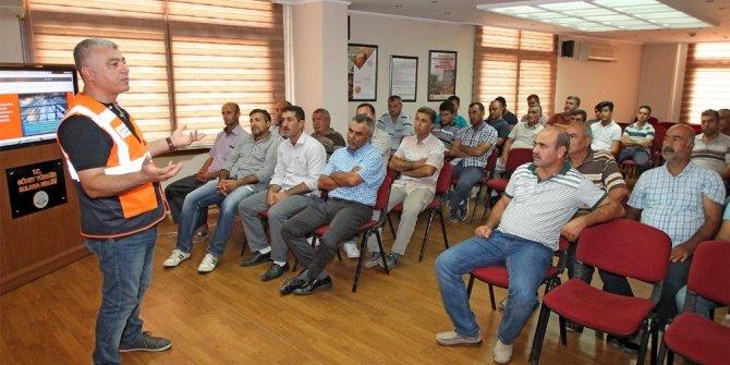 """Sulama birliği çalışanlarına """"İş Sağlığı ve Güvenliği"""" eğitimi"""