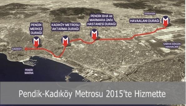 Pendik-Kadıköy Metrosu 2015´te Hizmette