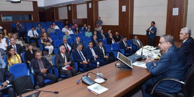 İl İdare Şube Başkanları Toplantısı Vali Su başkanlığında yapıldı