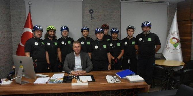 Bisikletçilere belediyeden destek