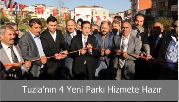 Tuzla'da Dört Yeni Park Hizmete Açıldı
