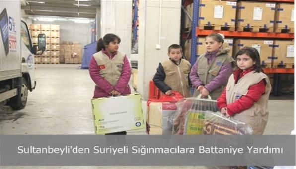 Sultanbeyli´den Suriyeli Sığınmacılara Battaniye Yardımı