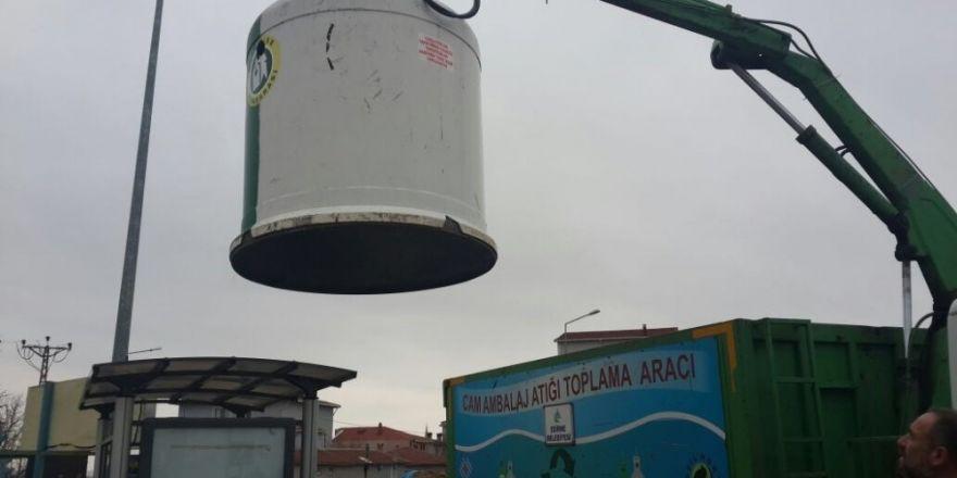 Kırklareli'de cam atıklar toplanmaya başlandı