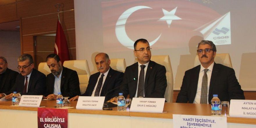 Malatya'da Çalışma Hayatında Milli Seferberlik toplantısı yapıldı