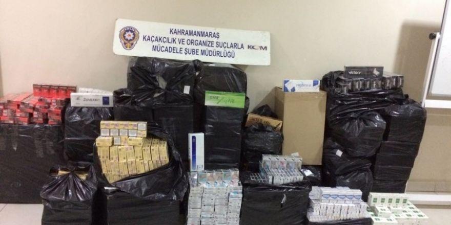 Kahramanmaraş'ta 11 bin 400 paket kaçak sigara ele geçirildi