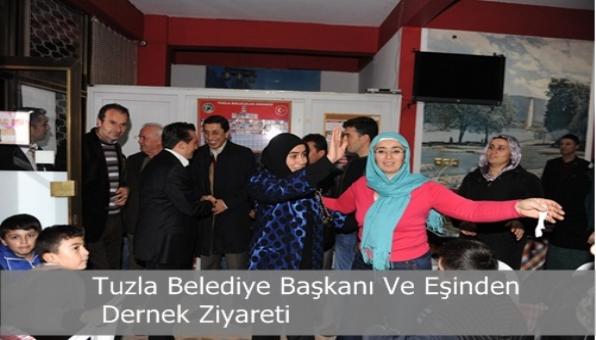 Tuzla Belediye Başkanı Ve Eşinden Dernek Ziyareti