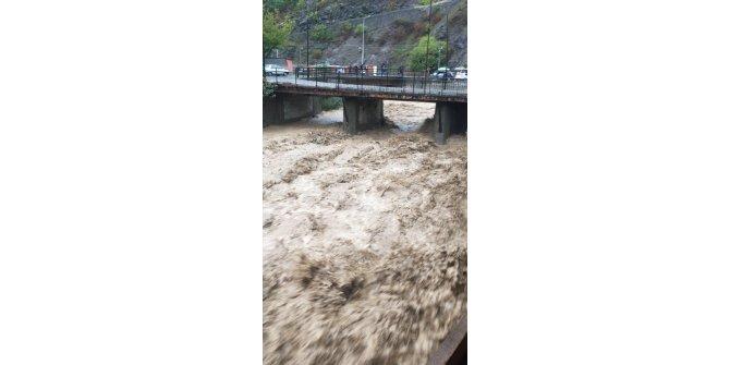Artvin'de şiddetli yağmur derelerin taşmasına sebep oldu