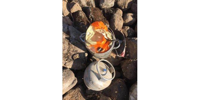 Karayolundaki düdüklü tencereli bombayı, güvenlik güçleri fark etti