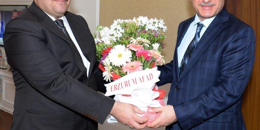 Erzurum AFAD'dan Vali Azizoğlu'na ziyaret