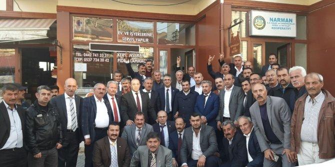 MHP Narman'da istişare toplantısı yaptı, esnafı dinledi