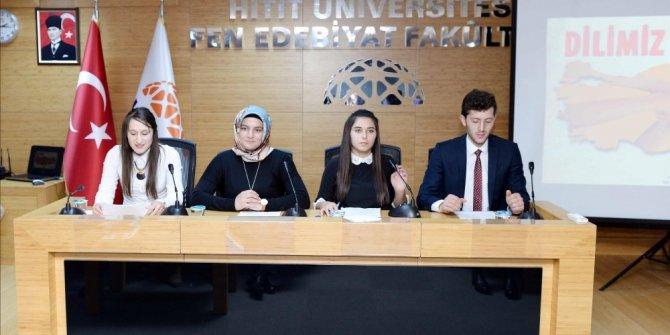 """Hitit Üniversitesi'nden """"Dilimiz Kimliğimiz"""" konulu konferans"""