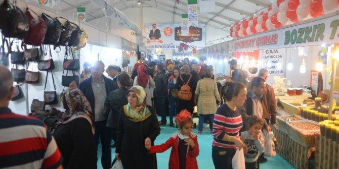 Malatya'daki Yöresel Ürünler Fuarına yoğun ilgi