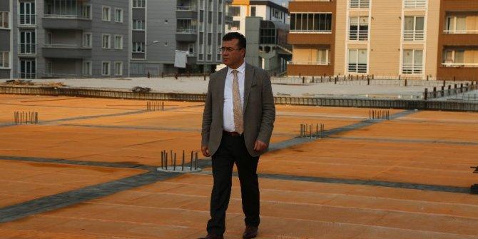 Atakum'da dev kompleks inşaatı hızla sürüyor