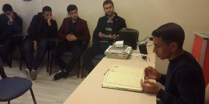 Eskişehir'de okuyan misafir öğrenciler, Somali için hatim duası okudu
