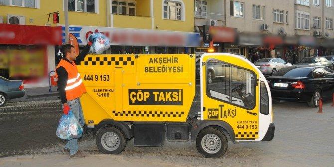 """Akşehir'de """"Çöp Taksi"""" hizmeti"""