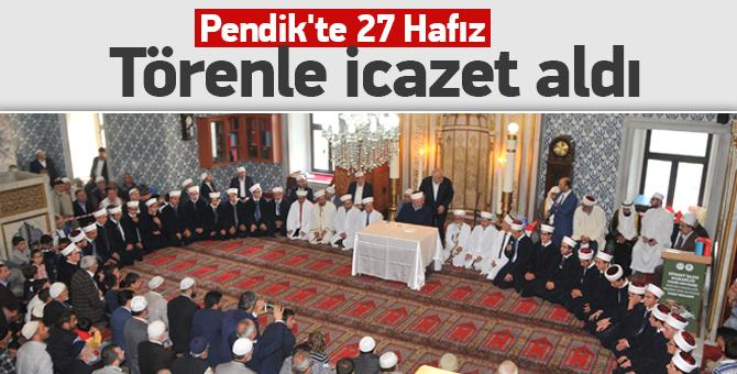 Pendik'te 27 Hafız törenle icazet aldı