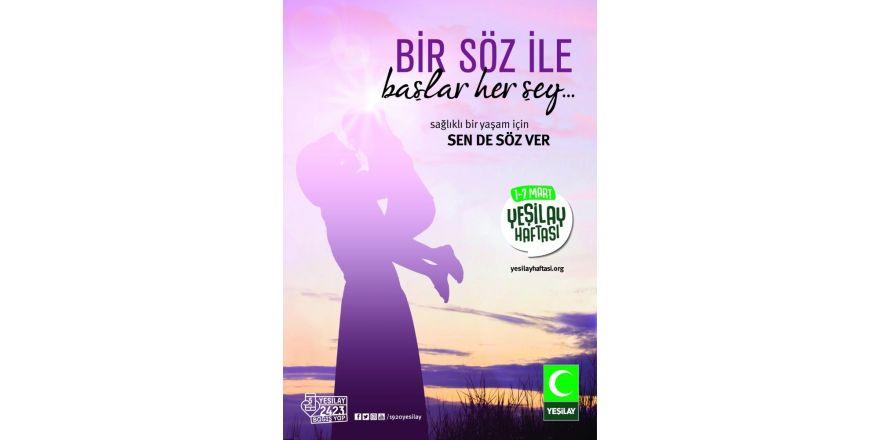 """Yeşilay Gaziantep Şubesinden """"Sende söz ver"""" kampanyası"""