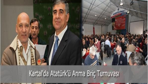 Kartal´da Atatürk'ü Anma Briç Turnuvası