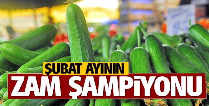 İstanbul'un zam şampiyonu Şubat'ta salatalık