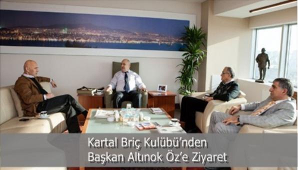 Kartal Briç Kulübü'nden Başkan Altınok Öz'e Ziyaret