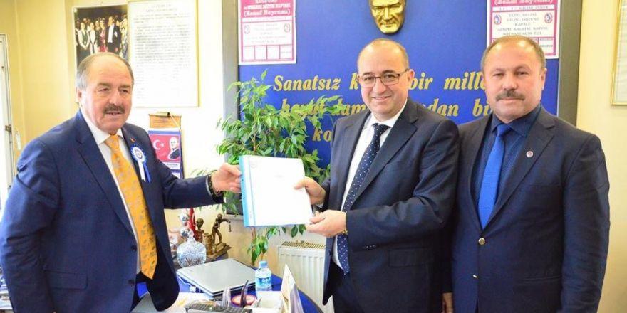 Milletvekili Gider'den Esnaf Odaları Birliği'ne ziyaret