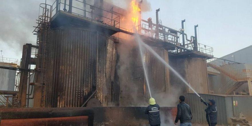 Altın madeninin işlendiği fabrikada yangın