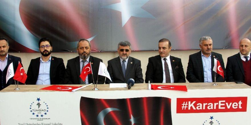TÜMSİAD Antalya Şubesinden anayasa değişikliği paketine destek