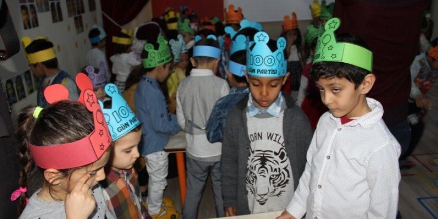 Şadan Doğan Anaokulunda 100'üncü gün etkinliği