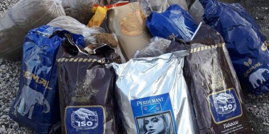Köyceğiz'de kaçak tütün ve makaron ele geçirildi